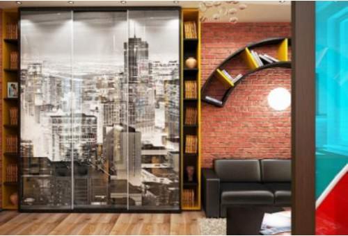 Шкафы в стиле лофт в интерьере квартиры и офиса