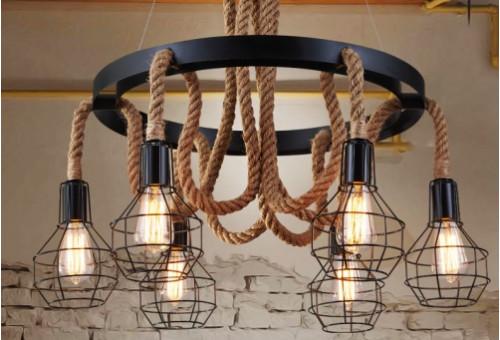 Освещение квартиры светильниками лофт